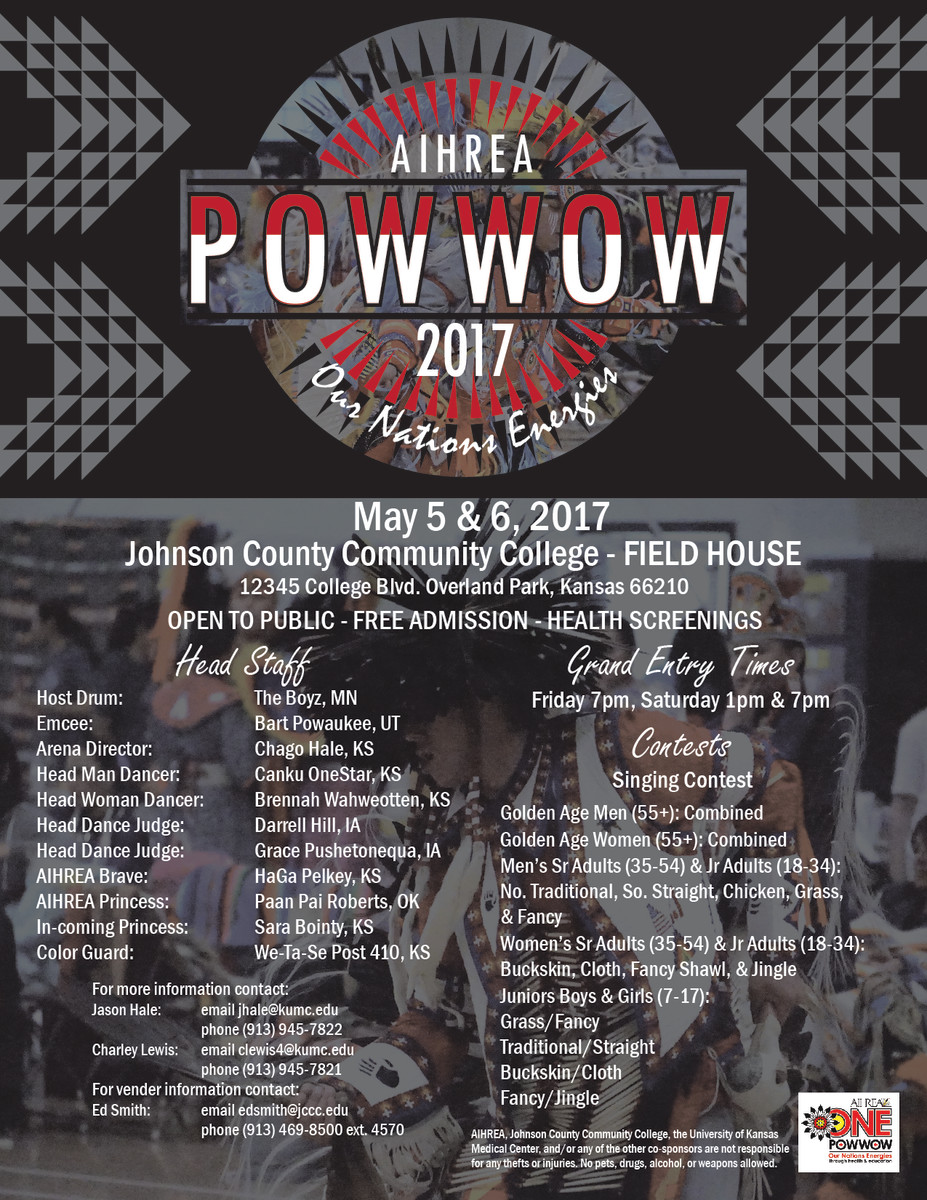 ICMN's featured weekly pow wow in our pow wow planner is the AIHREA 11th Annual Our Nation's Energies Pow Wow which takes place in Overland Park, Kansas on May 5th and 6th.