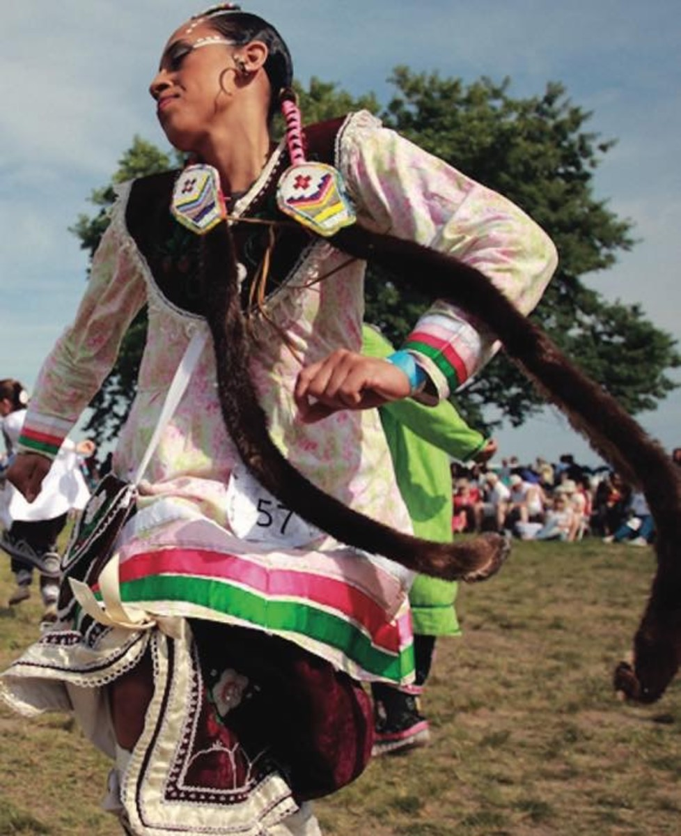 Valery Parker won the Women's Smoke Dance Special, as well as the Women's Fancy Dance Special at the Gateway to Nations Pow Wow June 6-8, 2014, Brooklyn, NY