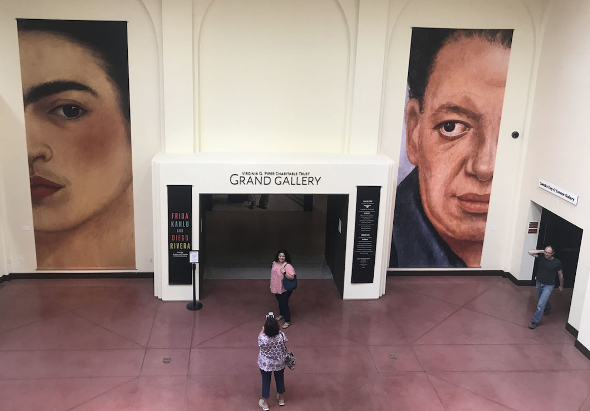 Visitors have come from around the world to visit the Frida Kahlo and Diego Rivera exhibit at the Heard Museum.