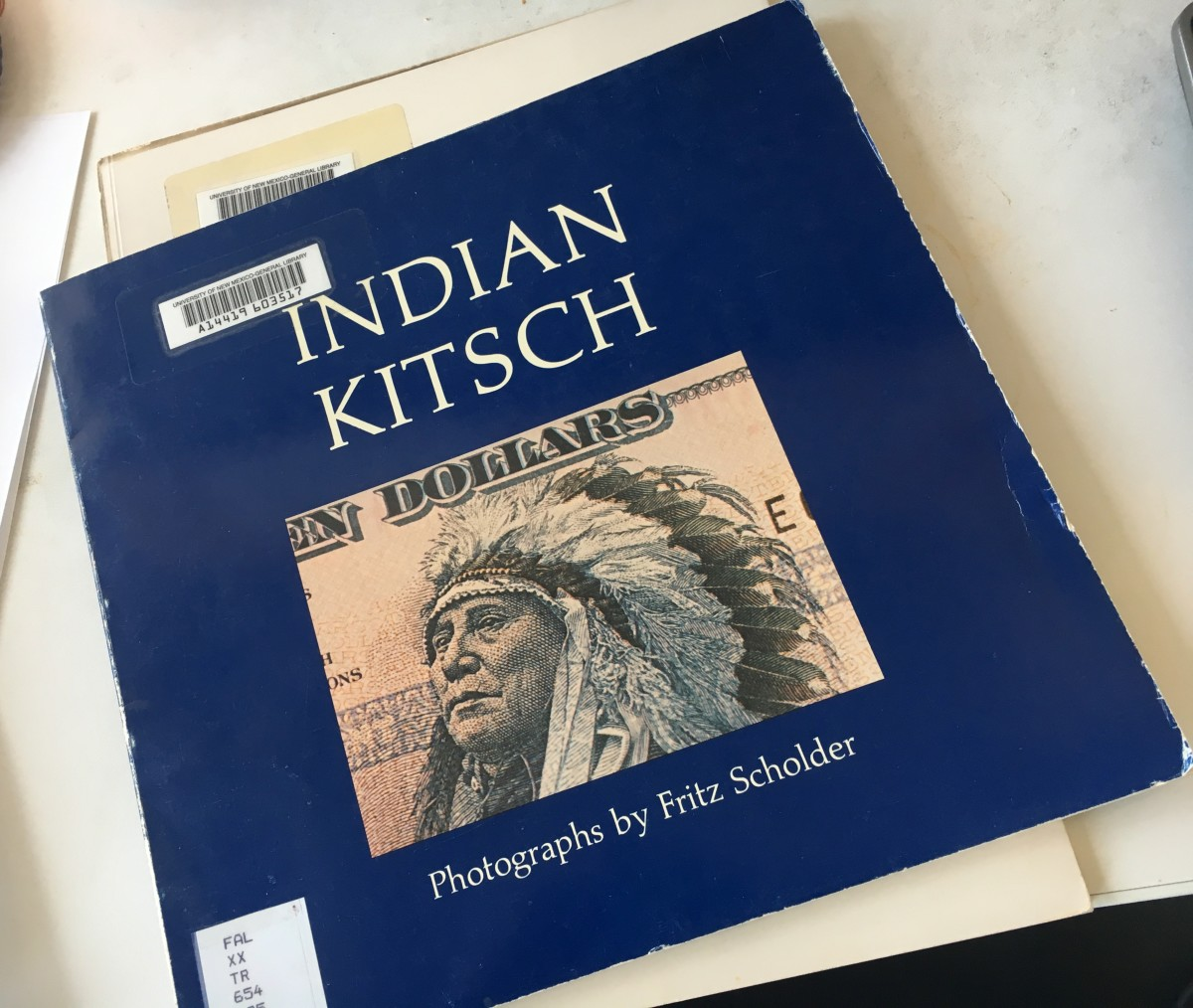 The artwork of Fritz Scholder from a controversial lecture on Indian art titled, Indian-Pop-Politics The Rise and Fall of a Native American Art.