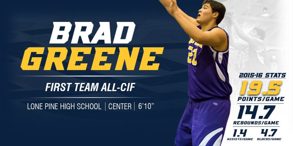 Brad Greene a First Team All-CIF selection. UCI M Basketball on Twitter