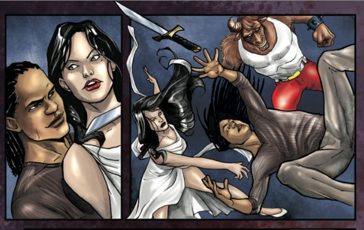 An image from Andrea Grant's graphic novel Minx: Dream War