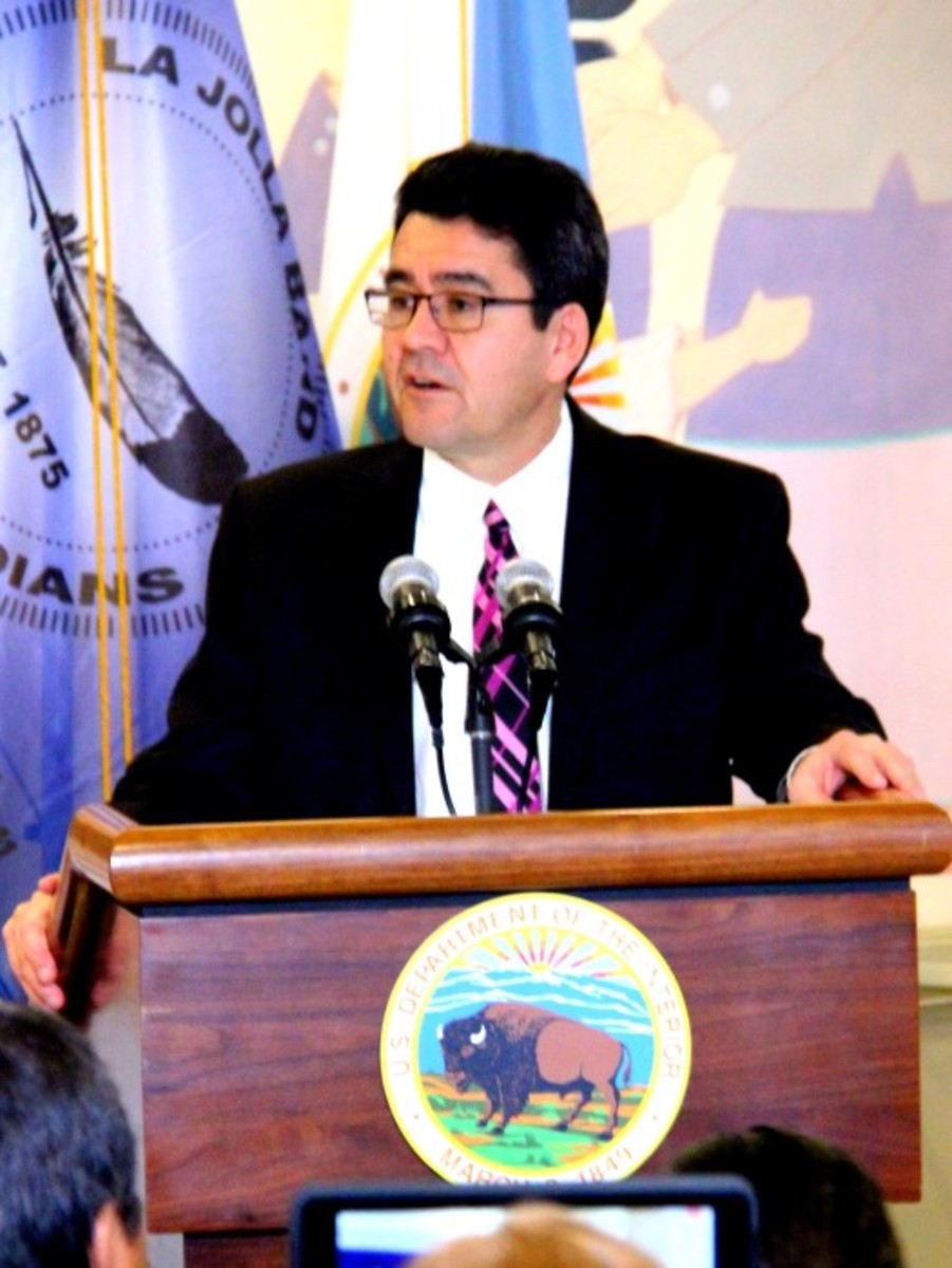 Deputy Secretary Connor addressed tribal leaders on January 13th. - Photo Vincent Schilling