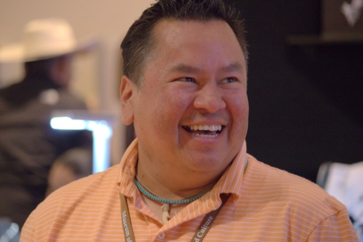 Nococa Burgess, Comanche, enjoying the weekend and the Native Treasures: Indian Arts Festival.