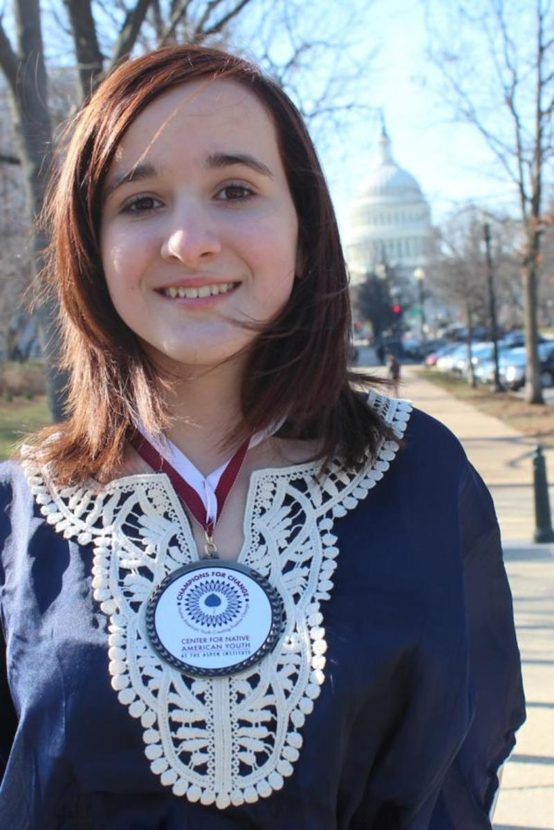 Cierra Fields, 14, was named one of five 2013 Champions for Change by the Center for Native American Youth.