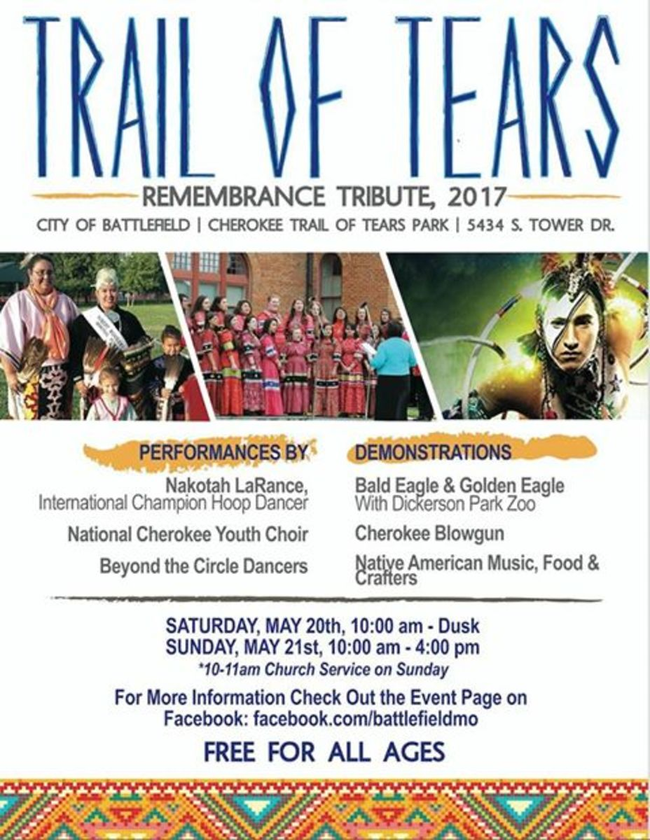 Trail of Tears Remembrance Tribute Pow Wow 2017 - featured pow wow in this week' pow wow planner.