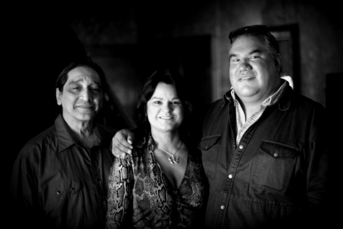 Native actor and stuntman George Aguilar and Filmmakers Georgina Lightning and Chris Eyre at the 'Pocahontas Reframed' Film Preview in Richmond, Virginia. Photo Vincent Schilling