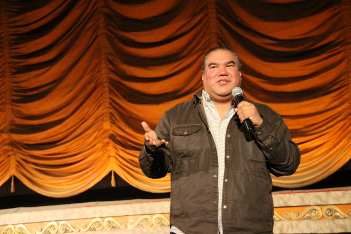 Chris Eyre thanked the organizers and Virginia Tribes for allowing him to take part in the film festival. Photo Vincent Schilling