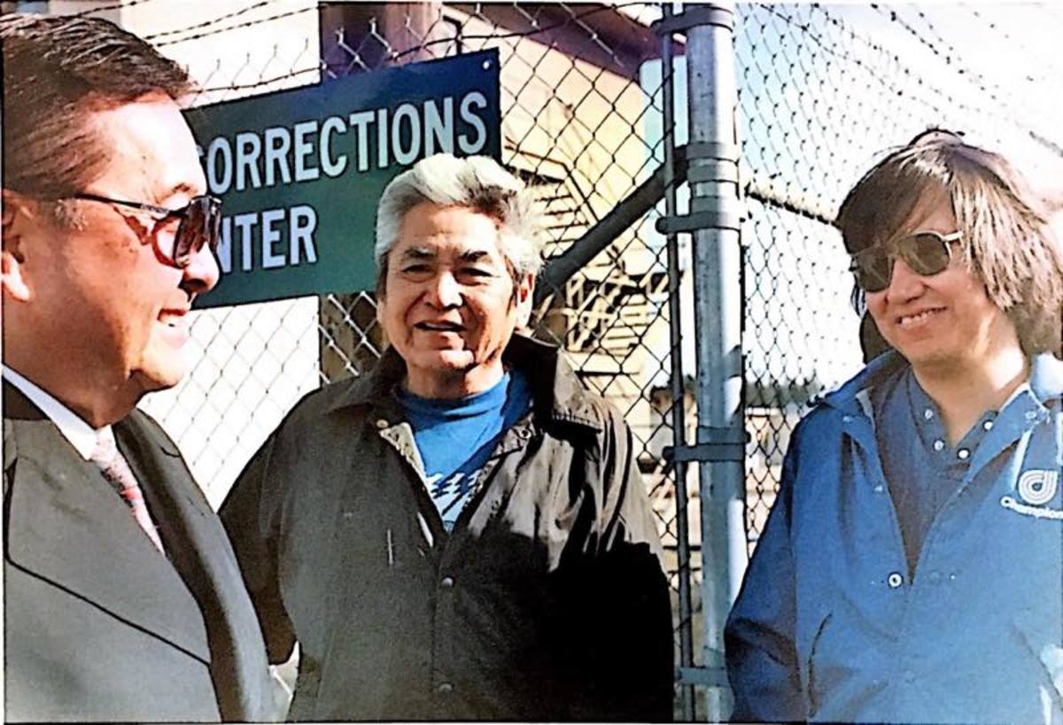 Sen. Daniel Inouye, left, visited David Sohappy while the Yakama fisherman and spiritual leader was in prison. Inouye spoke out about the injustice of Sohappy's case, leading to a reduction in Sohappy's sentence.