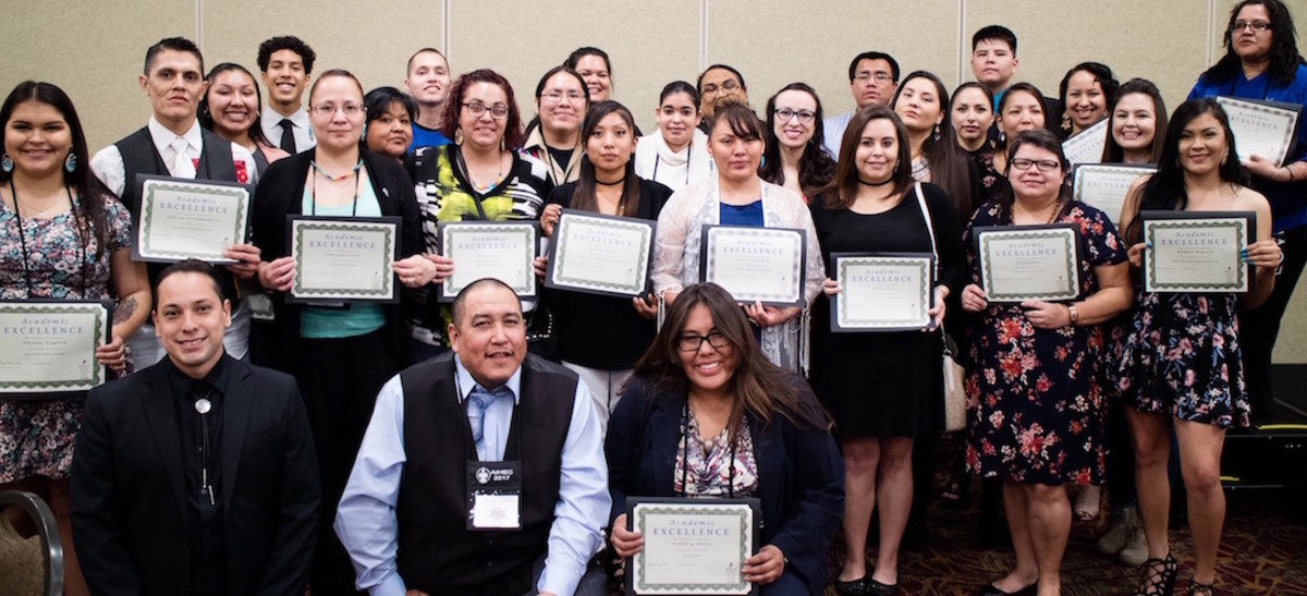 The American Indian College Fund honored 34 American Indian students at a March 19 banquet.