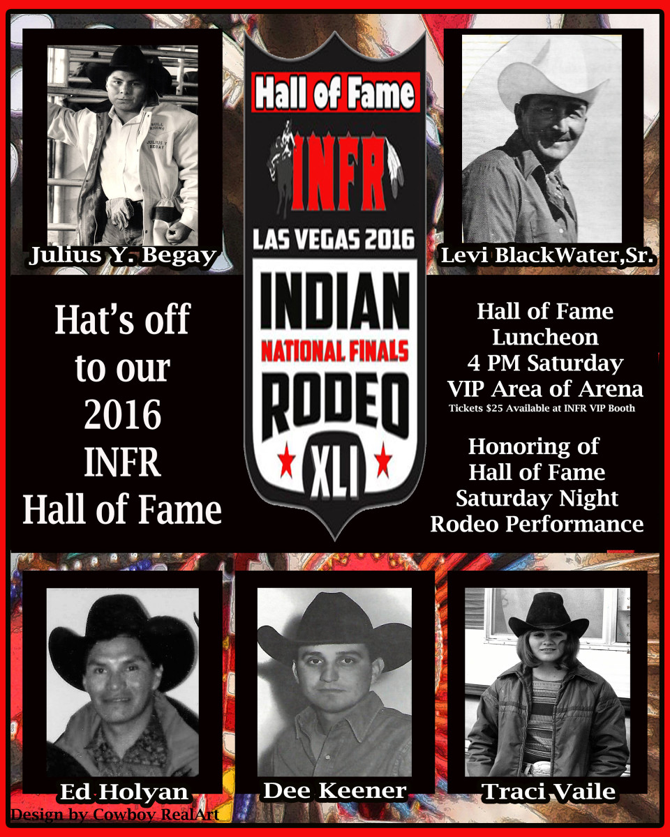 The 2016 Indian National Finals Rodeo Hall of Fame Program.