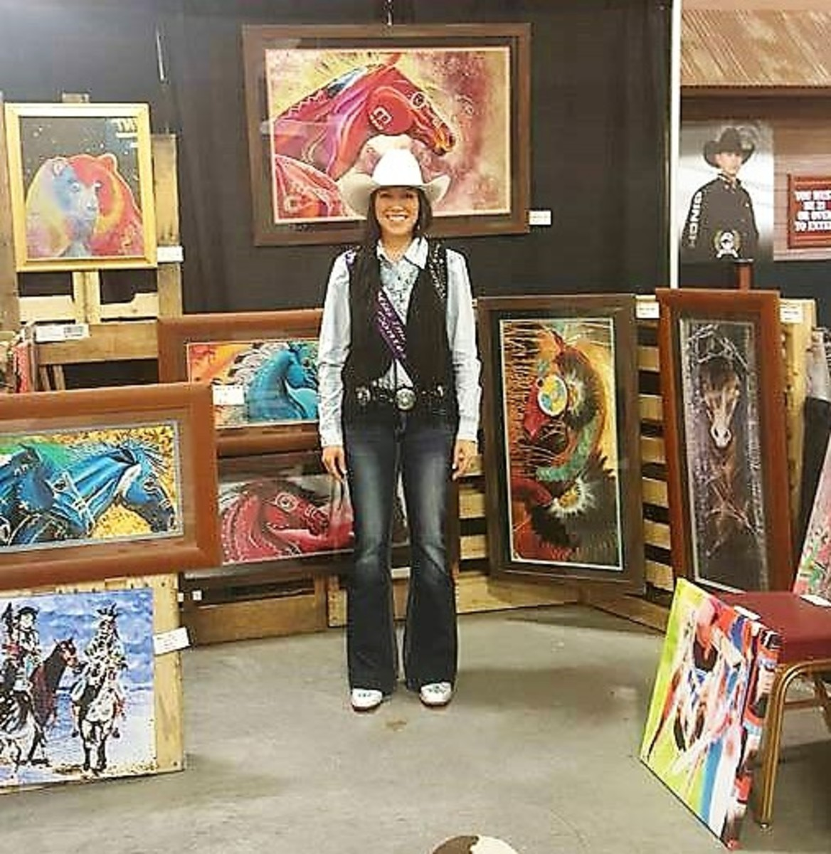 Indian National Finals Rodeo  Art Show with Rachel Heptner crowned 2017 Miss Indian Rodeo.