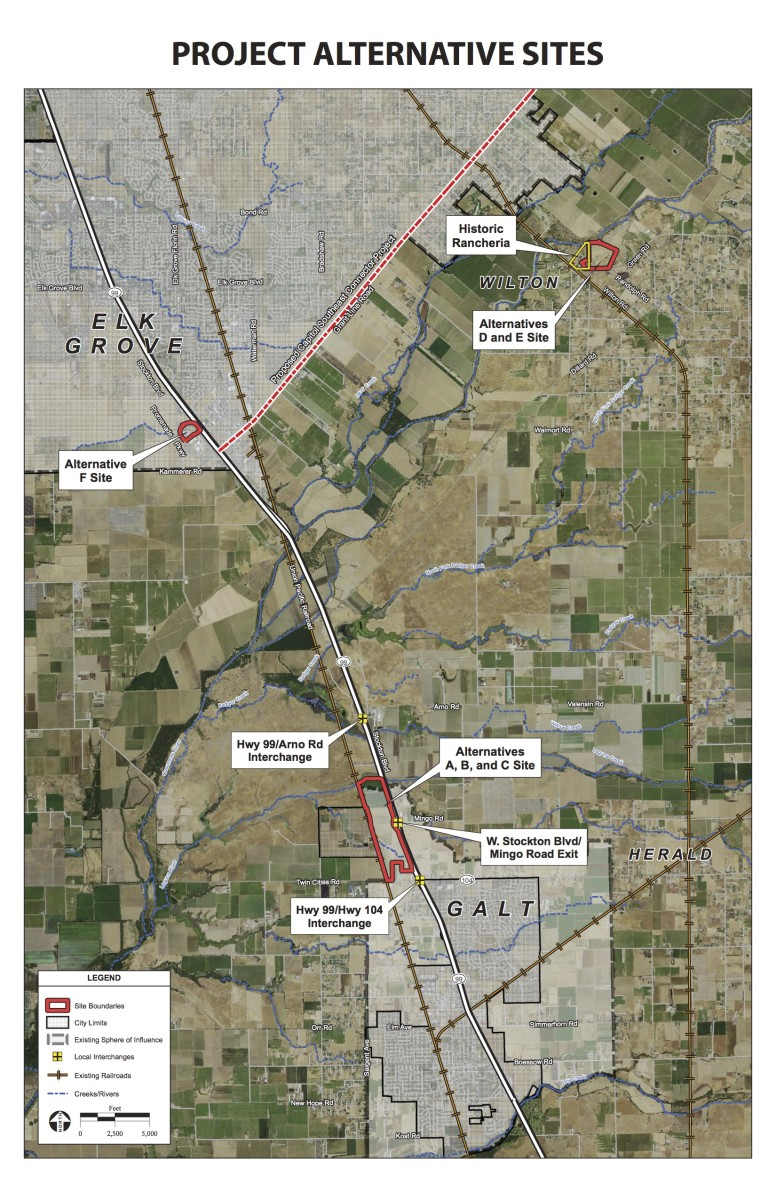 These sites were also considered for the resort and casino project.