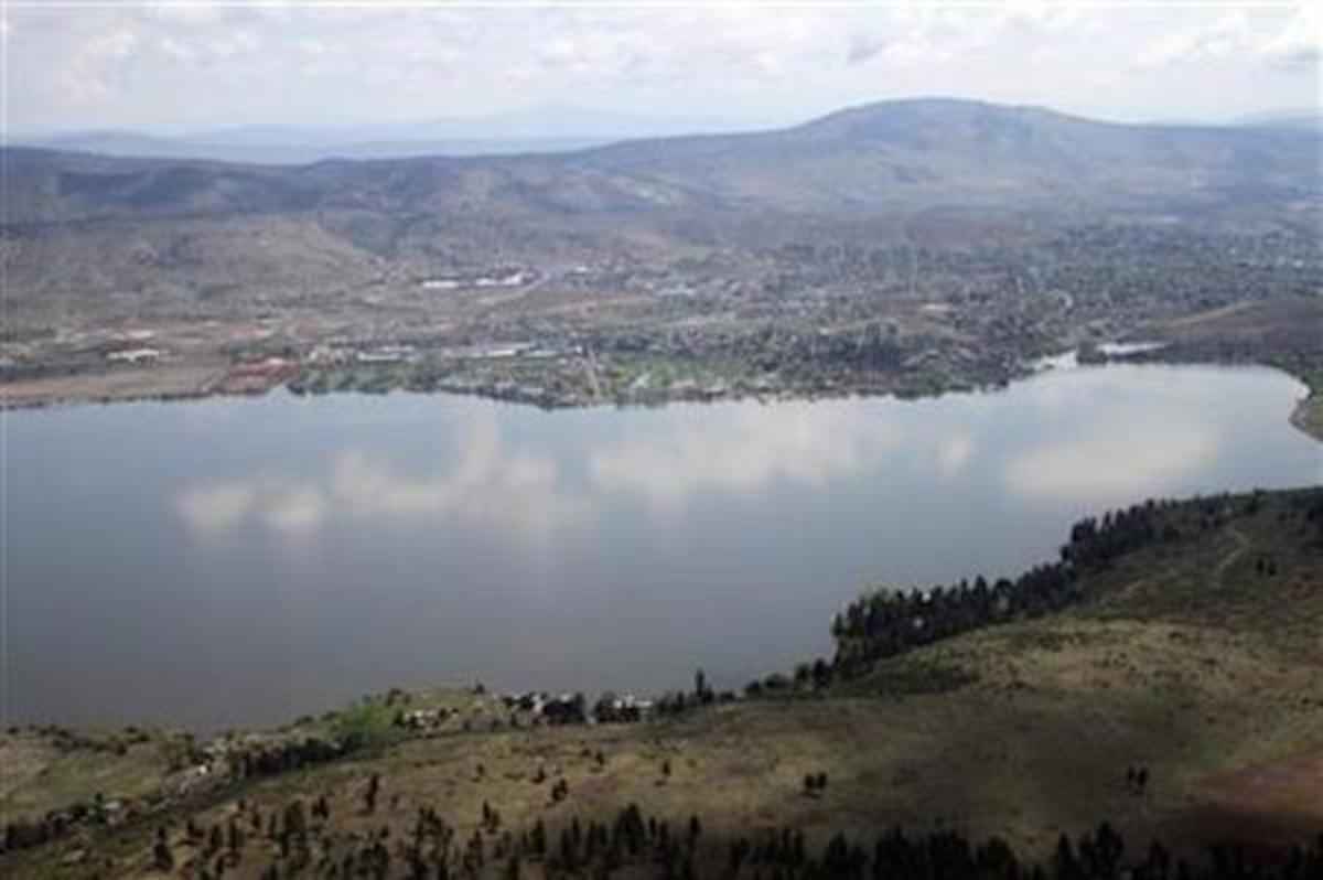 Upper Klamath Lake, part of tens of thousands of acres in Oregon's drought-stricken Klamath Basin that had to forego water last summer after the Klamath Tribes exercised their water rights to save their fisheries.