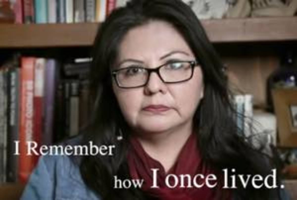 Pamela J. Peters does a cameo in the video of her poem 'My Once Life.'