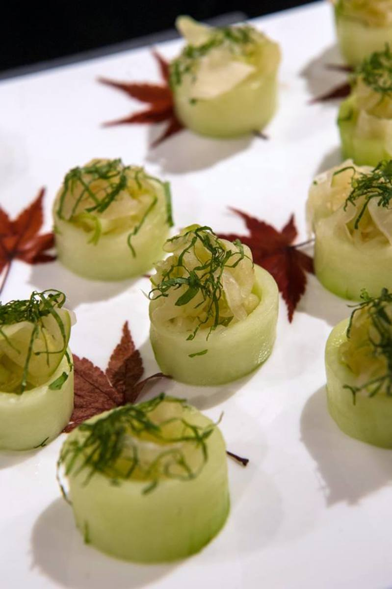 Fennel–Apple Sunomono with Shiso served by Becker at the James Beard House