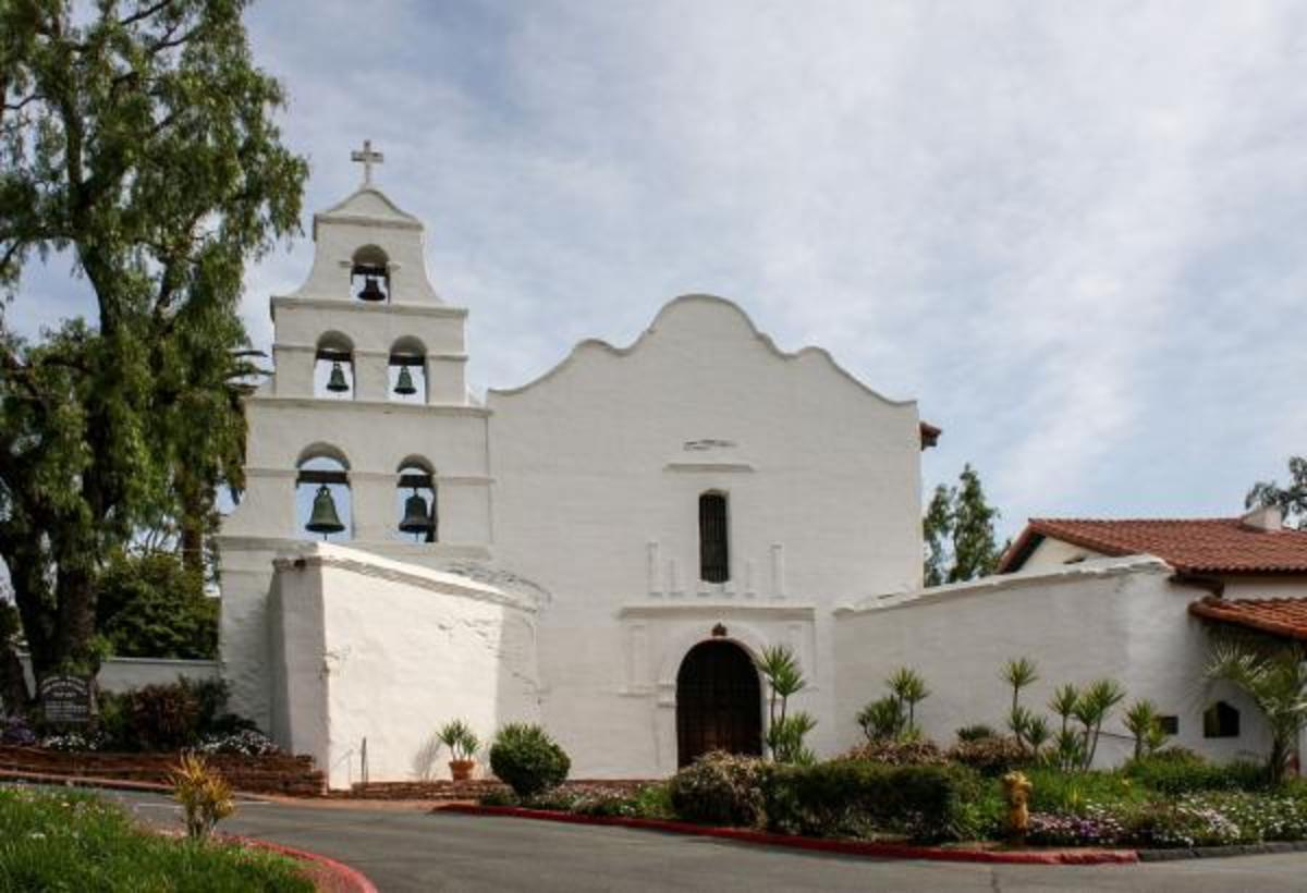 The Mission San Diego de Alcala was the first Spanish mission founded by Father Junipero Serra.