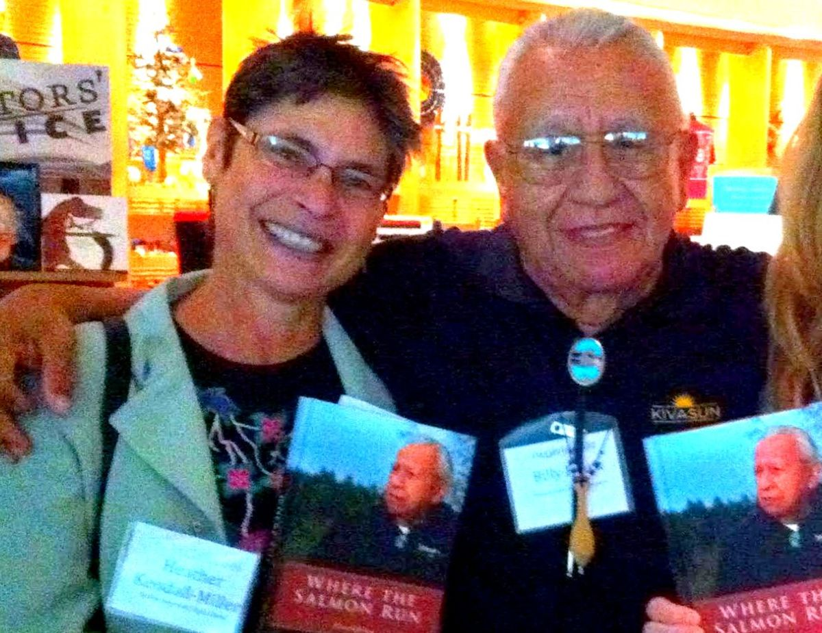 Heather Kendall-Miller with Billy Frank.