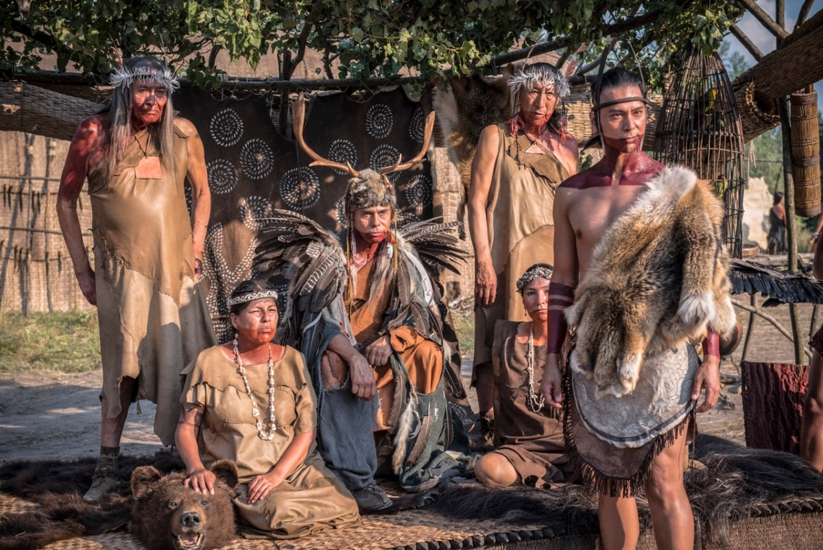 The 'Jamestown' series flew in 50 First Nations people from North America and Canada to portray the Native cast.