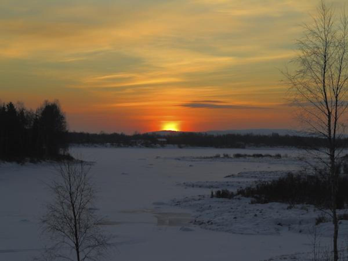 Winter solstice at midday in the Arctic.
