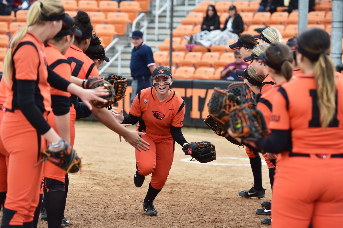Lovie Lopez is an Oregon State softball player who represents the Wintu Tribe. Courtesy Oregon State Athletics