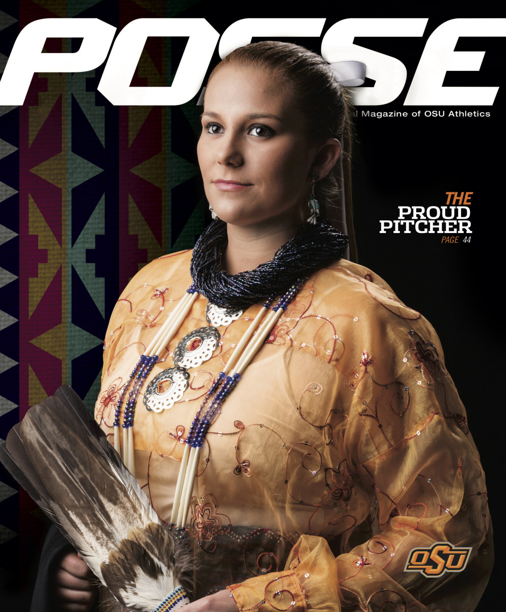 Whitney Whitehorn was featured on the cover of OSU's booster magazine POSSE.