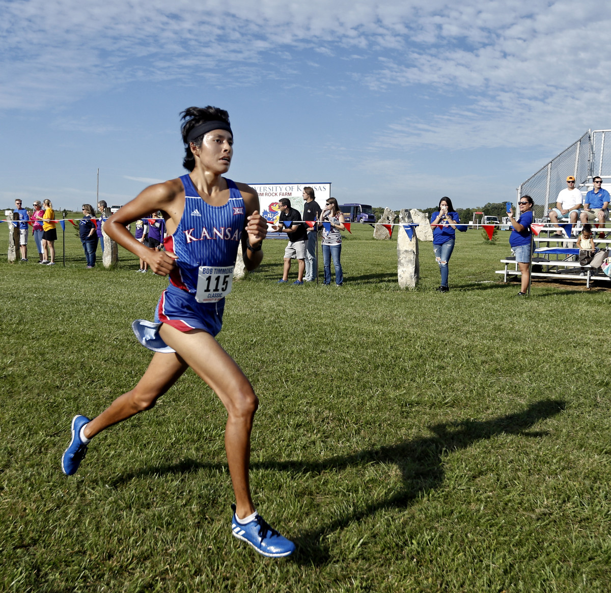 Native athlete Hale Avery at the Cross Country Bob Timmon's Classic.