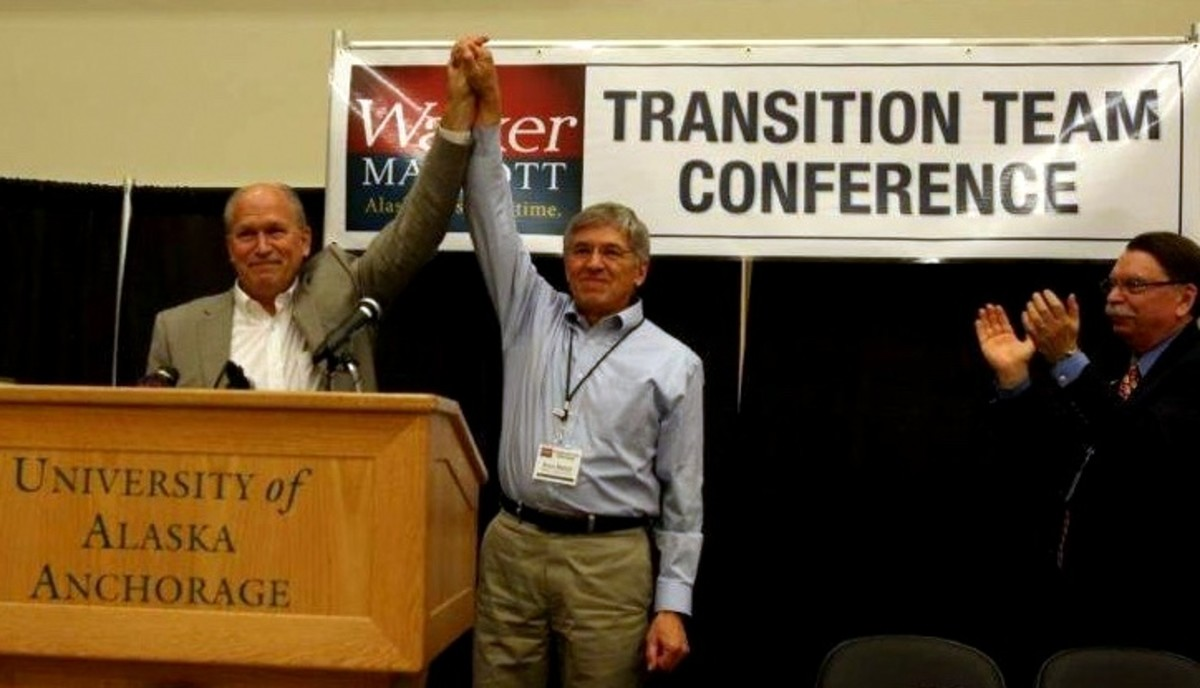 Four years ago Bill Walker, running as an independent for governor, convinced Byron Mallott, then the Democratic nominee for governor, to step off the Democratic ticket and join Walker's independent bid.