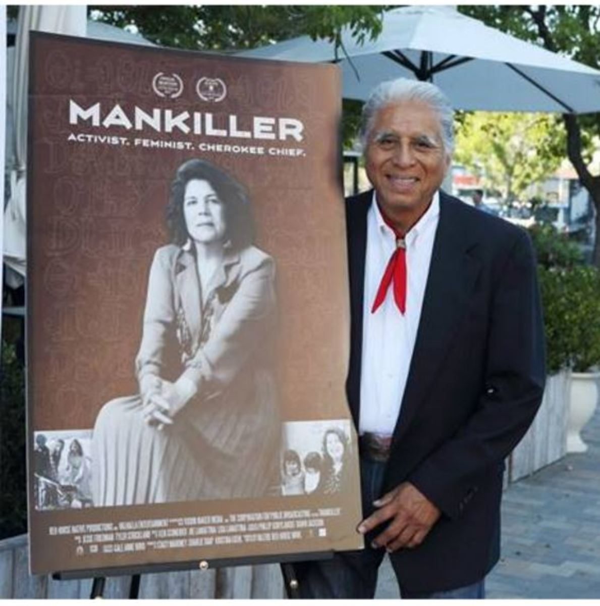 Charlie Soap, husband of Wilma Mankiller at the 'Mankiller' film premiere.