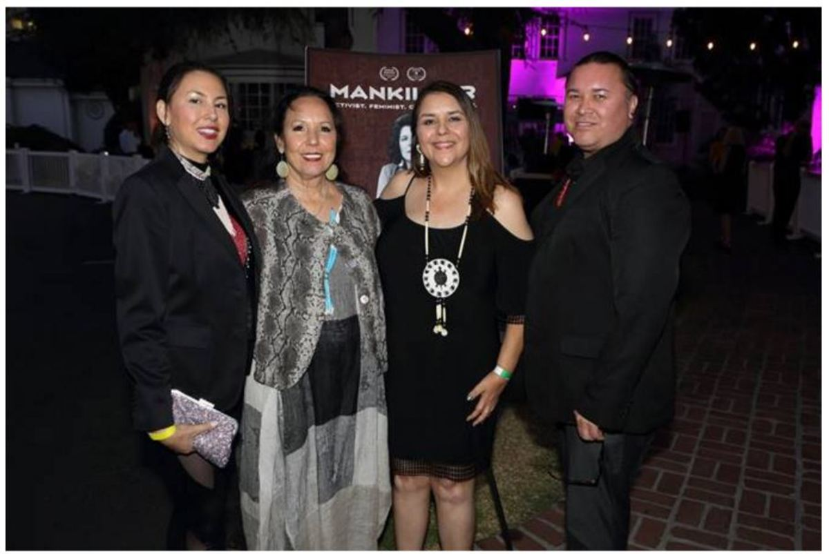 Family members of Wilma Mankiller at the 'Mankiller' film premiere.