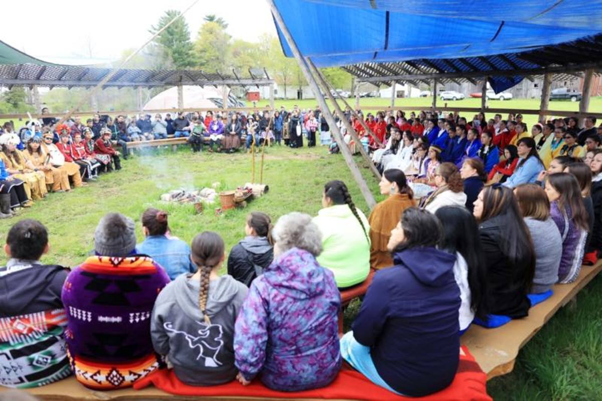 The graduation ceremony of Mohawk youth into adulthood.