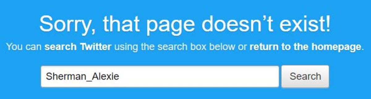 When searching his former Twitter handle @Sherman_Alexie, Alexie's account has either been deleted or had its name changed.