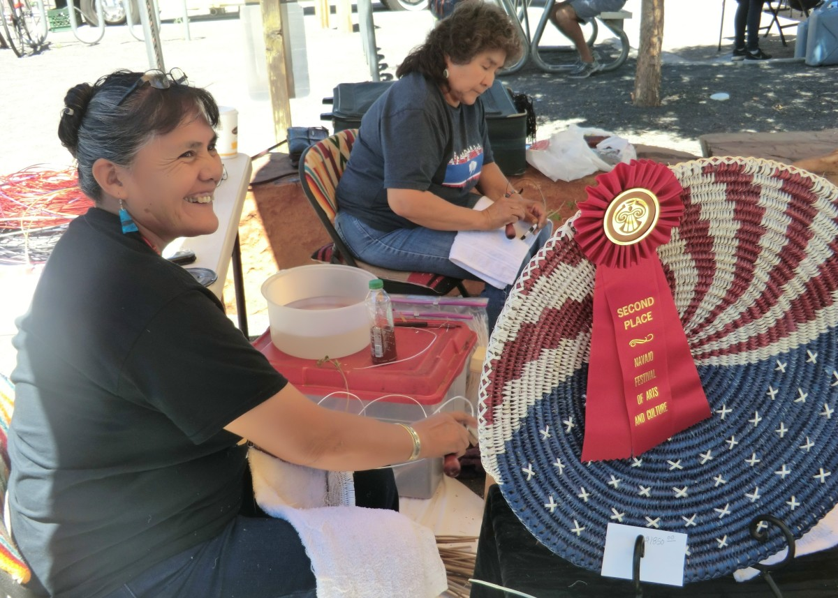Sally Black is a Navajo basket-maker that has been showing at Indian art markets in the southwest for around 35 years.