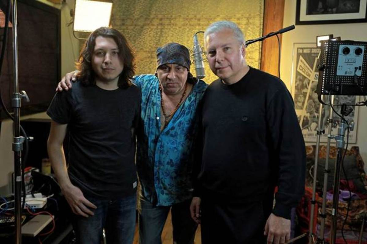 Ryan Johnson of The Ollivanders, actor and musician Steven Van Zandt and 'RUMBLE' executive producer Tim Johnson. Courtesy Tim Johnson