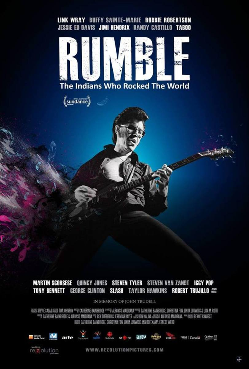 Movie Poster: Rumble, The Indians Who Rocked the World.