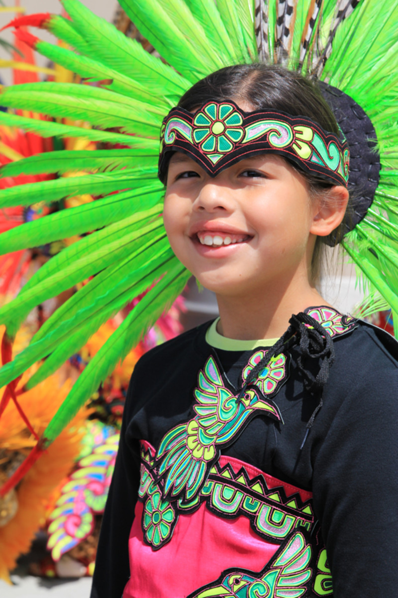 Aztec dancer Maria Teller performed with her family during GON.