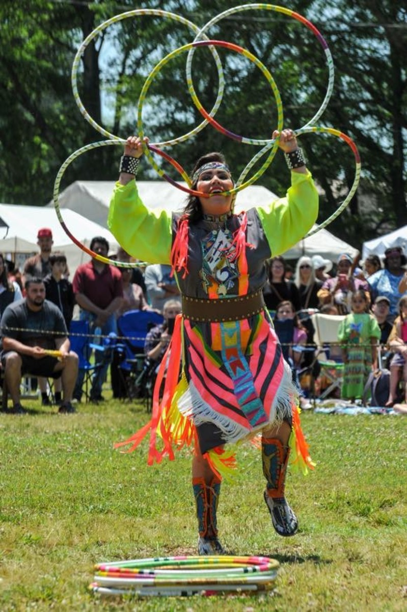 Amanda Ironstar, Nakota SiouxPlains Cree, is a hoop dancer from Canada. She has been dancing for 26 years - Amy Morris