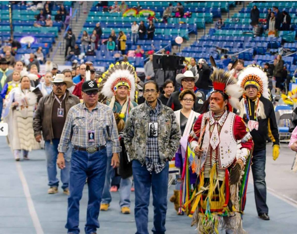 Tyrone Tootoosis was honored last November at the pow wow he helped to organize. He passed on at age 58 after a battle with colon cancer. Courtesy Facebook