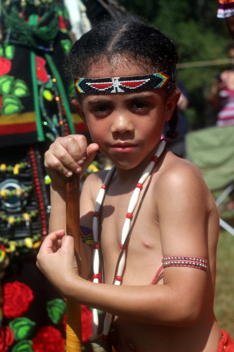 A young male warrior looks into the camera without fear - Photo: Vincent Schilling