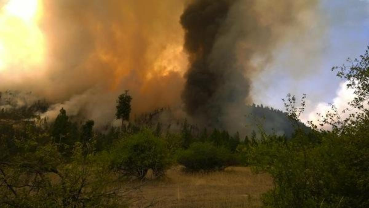 COLVILLE FIRE The Colville Reservation is the latest victim of massive wildfires in Indian country. (File Photo courtesy of Washington Interagency Incident Management Team)