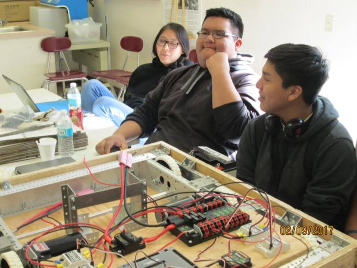 Native American students at Navajo Mountain High School learned to design, build and program a robot from scratch in less than six weeks.