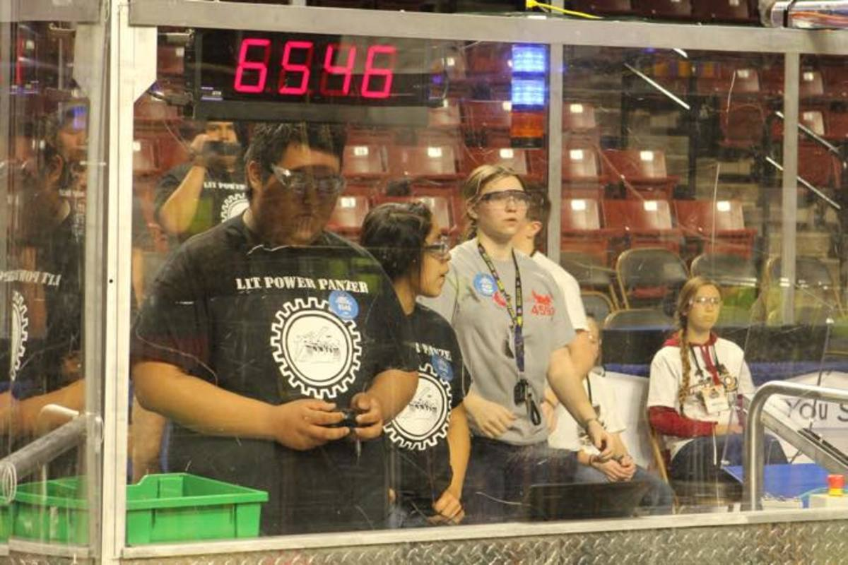 Fredale Burns, a 17-year-old senior at Navajo Mountain High School, was selected to be the driver during regional robotics competitions.