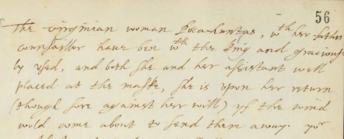 Image of Letter (excerpt) from John Chamberlain to Sir Dudley Carleton dated 18 January 1617 (catalogue reference: SP 14/90, f.56). Source: British National Archives, Open Government License