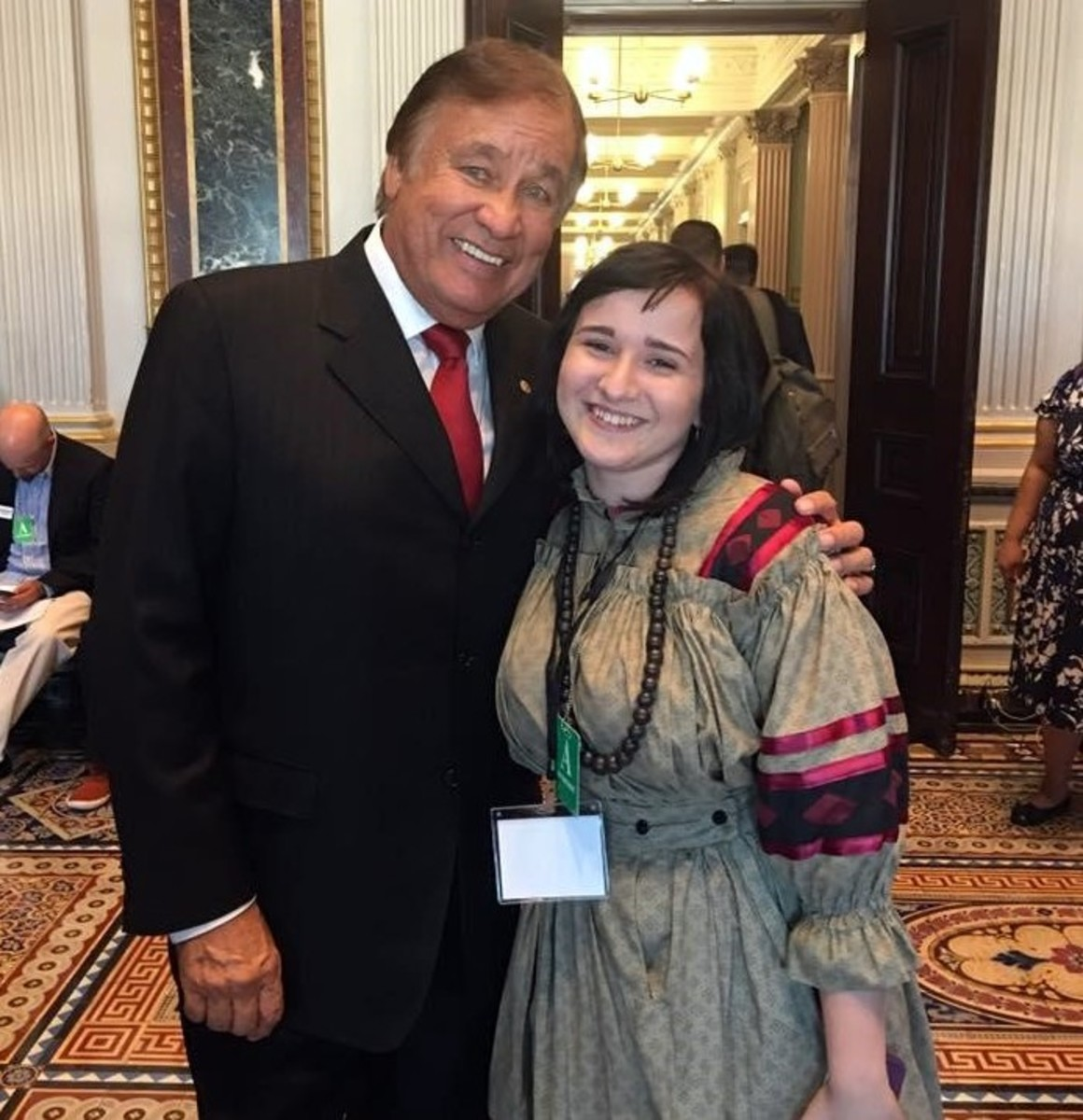 Yes, I met the awesome Billy Mills - Courtesy Cierra Fields