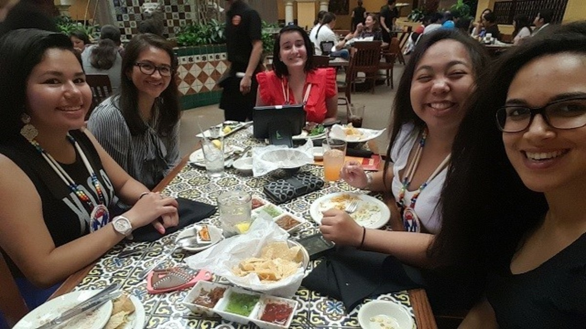 Catching up with the Center for Native American Youth staff Josie Raphaelito and Amber Richardson as well as fellow Champions for Change - Courtesy Cierra Fields