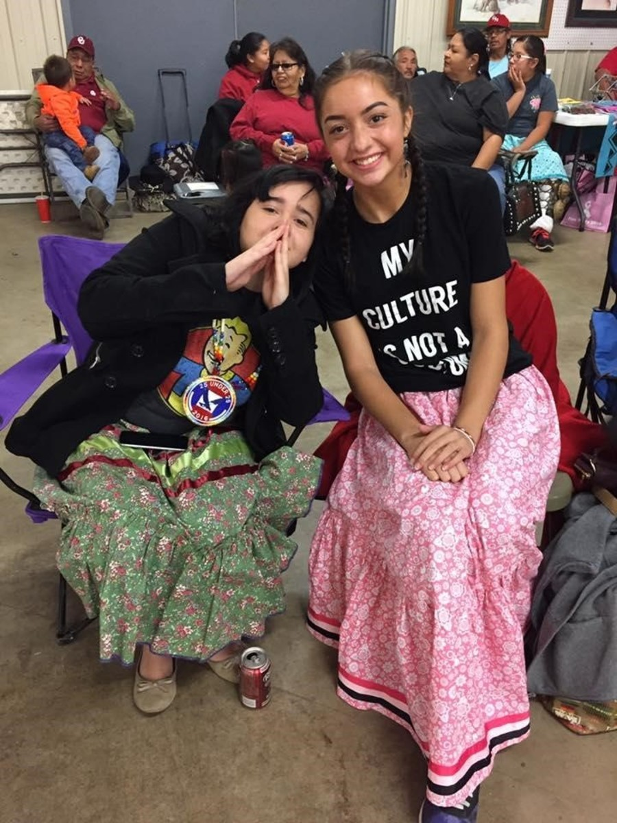 A chill moment at the 2016 Stomp Dance for Standing Rock - Courtesy Cierra Fields