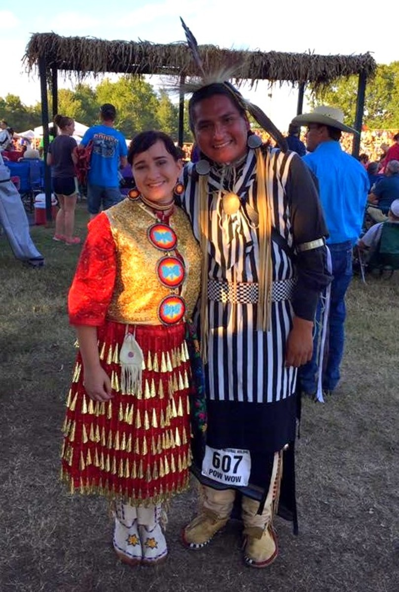 From the 2016 Cherokee National Holiday Pow wow in Tahlequah, Oklahoma. My friend, Solen Deerinwater does Men's traditional - Courtesy Cierra Fields