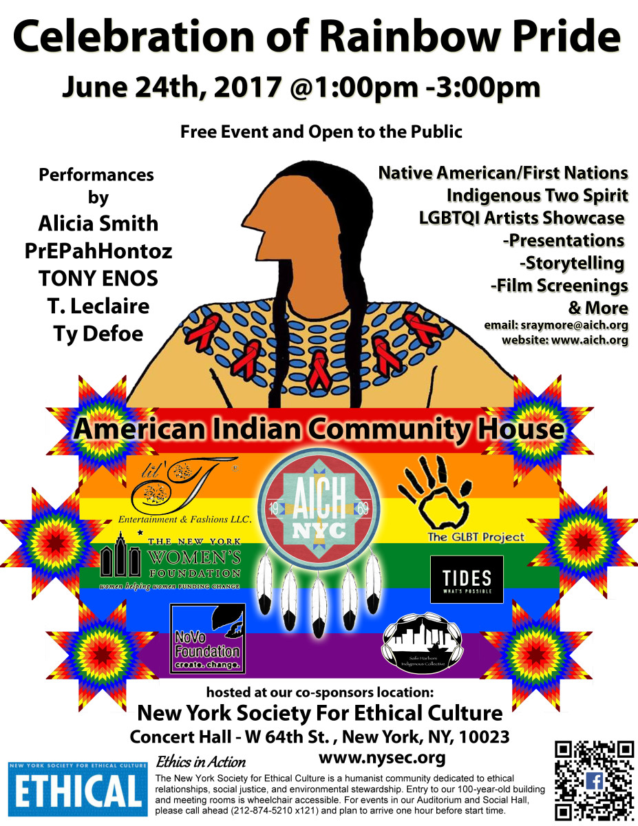 AICH Flyer for the NYC Two-Spirit Pride Event