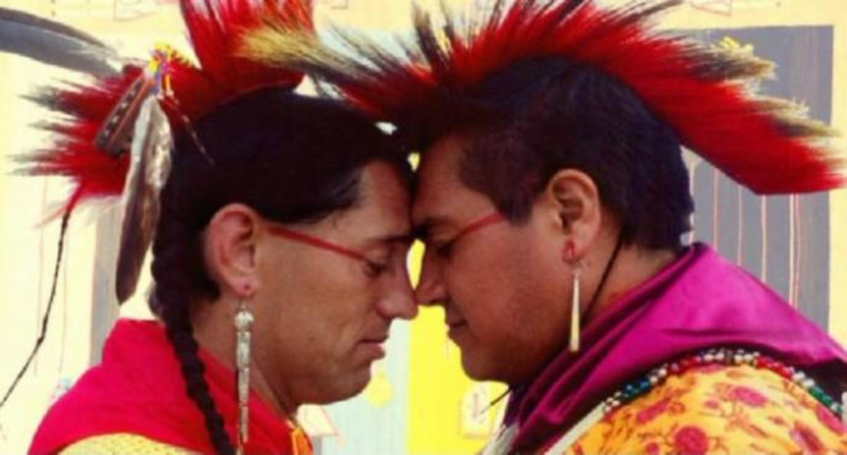 Two-Spirit Dancers prepare, from the film Two Spirits