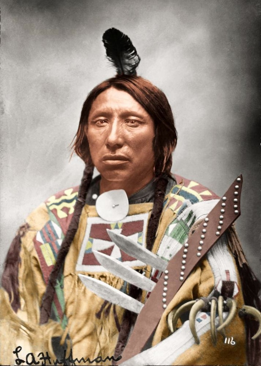 Sioux Chief Spotted Eagle, photo by L.A. Huffman.